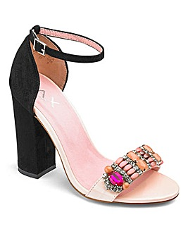 AX Paris Jewelled Sandal D Fit