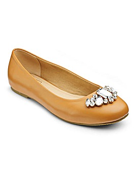 Sole Diva Jewelled Ballerina E Fit