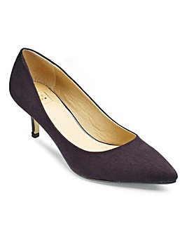 Sole Diva Plain Court Shoes EEE Fit