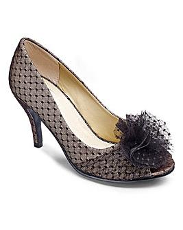 Sole Diva Peep Toe Shoe EEE fit