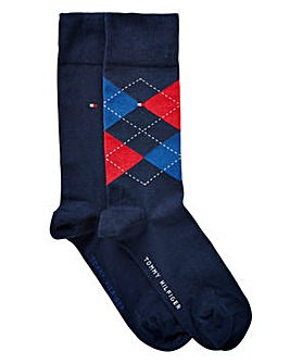 Tommy Hilfiger Pack of 2 Check Socks
