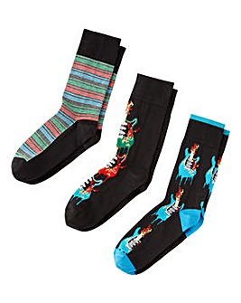 Joe Browns Pack of 3 Guitar Socks
