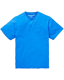 Capsule Blue V-Neck T-shirt L