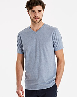Capsule Blue Marl V-Neck T-shirt L