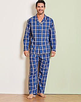 Capsule Navy Check Long PJ Set