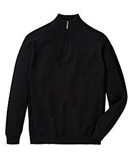 Capsule Black 1/4 Zip Cotton Jumper R