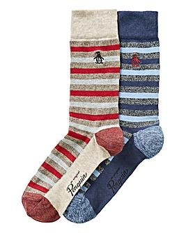 Original Penguin Pack of 2 Stripe Socks