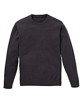 Capsule Charc Crew Neck Cotton Jumper L