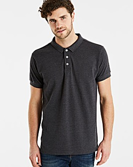Capsule Charcoal Short Sleeve Polo L