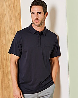 Capsule Navy Stretch Jersey Polo R
