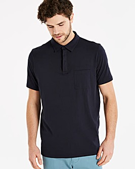 Capsule Navy Stretch Jersey Polo L