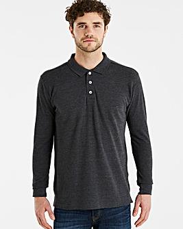 Capsule Charcoal Long Sleeve Polo R
