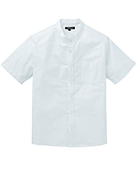 Capsule White S/S Grandad Oxford Shirt R
