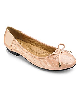 Sole Diva Quilted Ballerinas EEE Fit