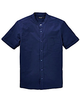 Capsule Navy S/S Grandad Oxford Shirt R
