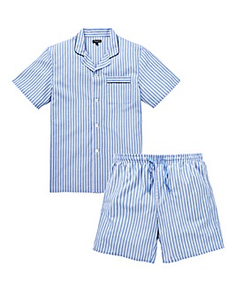 Capsule Check Short Stripe PJ Set