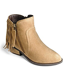 Sole Diva Fringe Ankle Boots E Fit