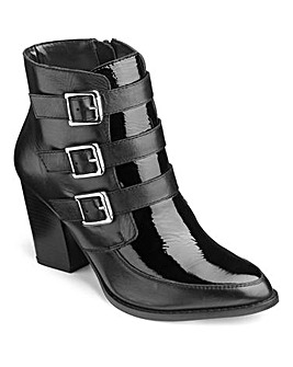 Sole Diva Buckle Ankle Boots EEE Fit
