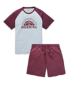 Capsule Grey Raglan Shorts PJ Set