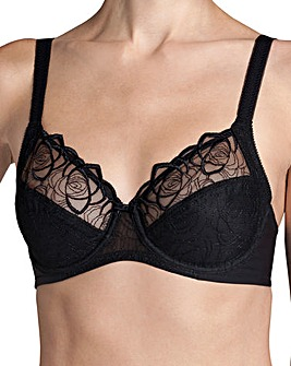 Triumph Flower Passione Wired Black Bra