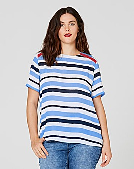 Stripe Shell Top