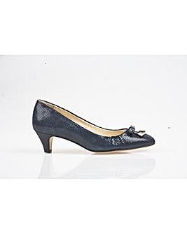 Van Dal Ivy - Navy Lizard Print Shoe