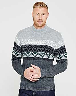 Flintoff By Jacamo Turtleneck Jumper
