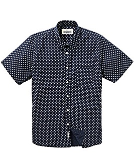 Jacamo S/S Geo Print Shirt Regular