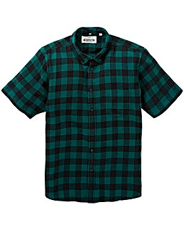 Jacamo S/S Buffalo Check Shirt Long