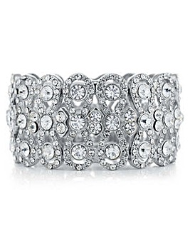Mood Silver crystal eternity bracelet