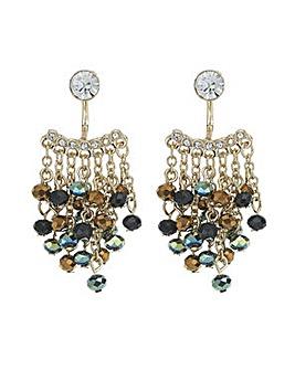 Mood Metallic bead drop earring