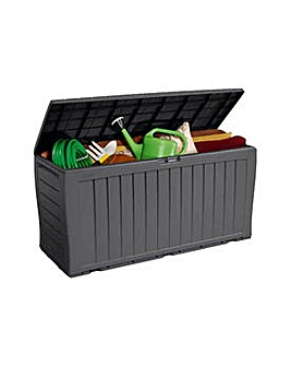 Keter Wood style Garden Storage Box Grey