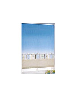 Beach Hut Roller Blind - 4ft