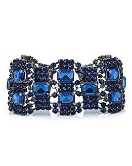 Mood Blue crystal diamante loop bracelet