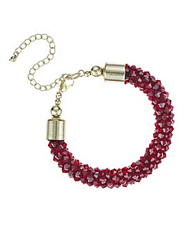 Mood Red cluster beaded bracelet