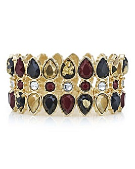 Mood Red tonal crystal stretch bracelet