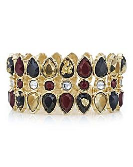 Mood Red tonal crystal stretch bracelet