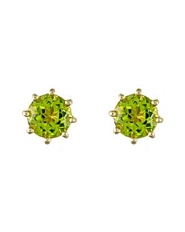 9ct Y/G Peridot Stud Earrings