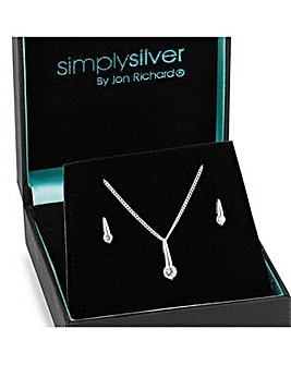 Sterling silver stick necklace set