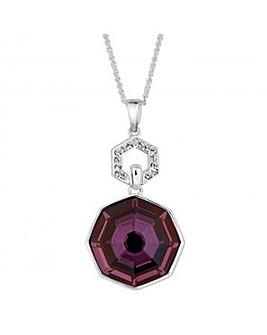 Jon Richard Lilac pendant necklace