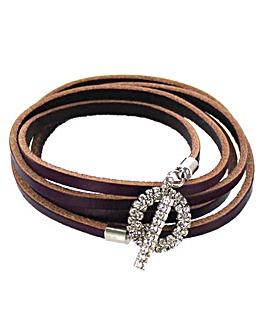 Lizzie Lee Leather Wrap Bracelet