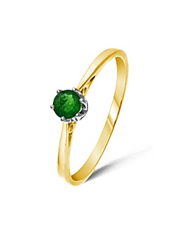 9ct Gold 0.25Ct Chrome Diopside Ring