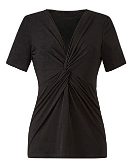 Black Twist Knot Jersey Top