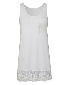 Lace Trim Vest Top
