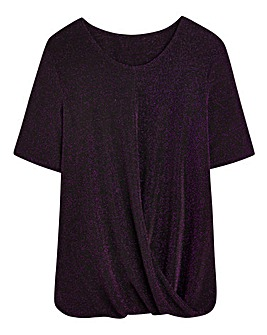 Twist-Hem Jersey Top