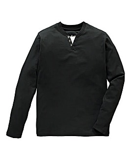 Jacamo Black Malcolm L/S Layered Tee R