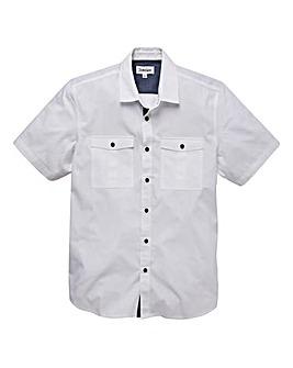 Jacamo Short Sleeve Military Shirt Long