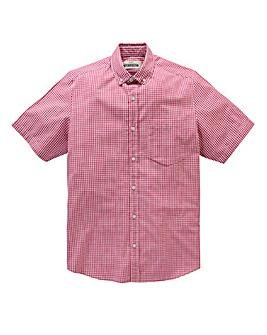 Jacamo Pink Archer S/S Check Shirt L