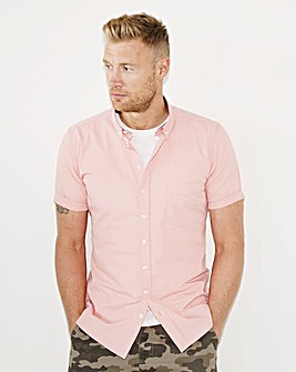 Flintoff by Jacamo S/S Printed Shirt Lon