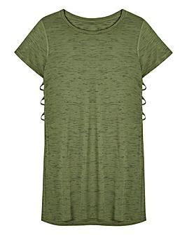 Slub Side Split T-Shirt